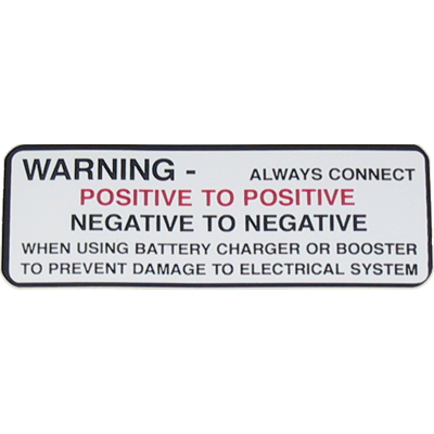 Battery Warning Decal 1963-64