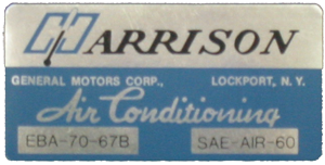 A/C Box Decal 1967 Harrison