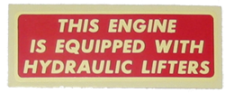 Valve Cover Decal 1948-53 Buick