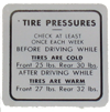 Tire Pressure Decal 1939-47 Buick