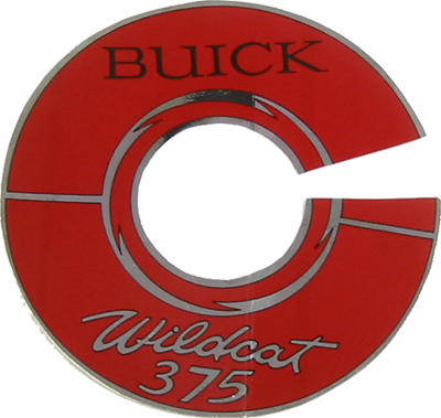 Air Cleaner Decal 1966 Buick Wildcat 375