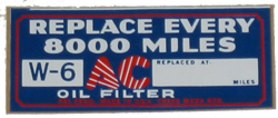 Oil Filter Decal 1933-36 Buick