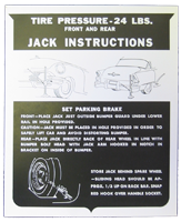 Jack Instructions 1955 Buick