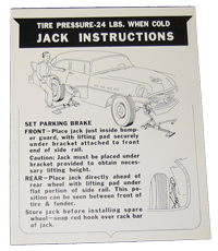 Jack Instructions 1956 Buick
