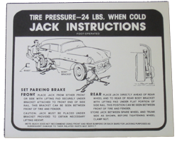 Jack Instructions 1957 Buick