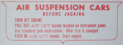 Jack Instructions 1958-60 Buick