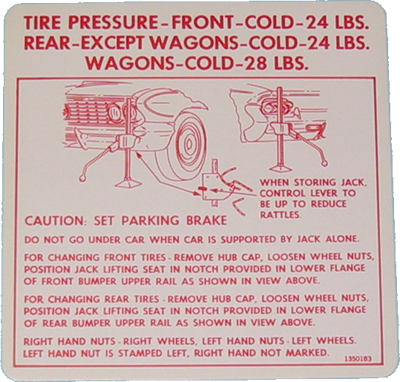 Jack Instructions 1962 Buick