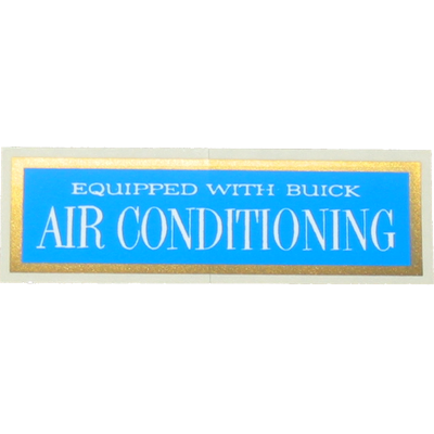 A/C Window Decal 1961-63 Buick