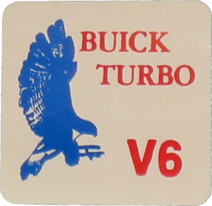Coil Pack Decal 1984-85 Buick Turbo V6