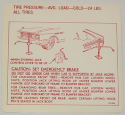 Jack Instructions 1965 Buick Ele Les Wc