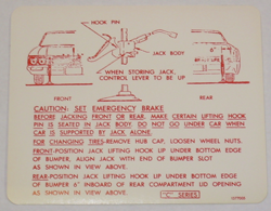 Jack Instructions 1966 Buick Ele Les Wc
