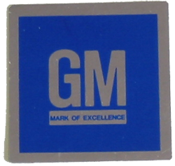 GM Mark of Excellence Decal 1968-76 Flat