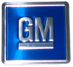 GM Mark of Excellence Decal 1968-76 Embd