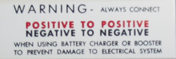 Battery Decal 1968-74 Buick