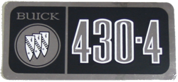 Valve Cover Decal 1967-69 Buick 430-4