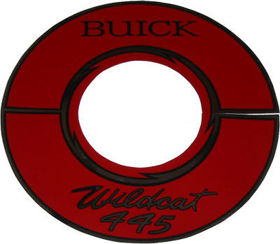 Air Cleaner Decal 1964-66 Buick 401 Alum