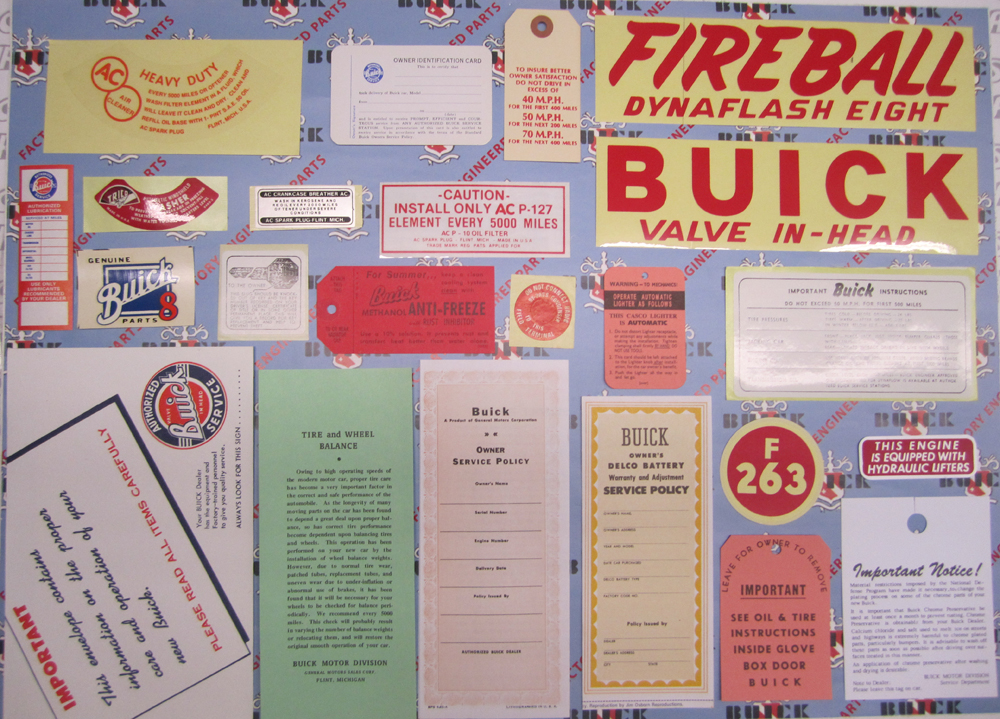 1953 Decal Set Buick Series 40 (Special)