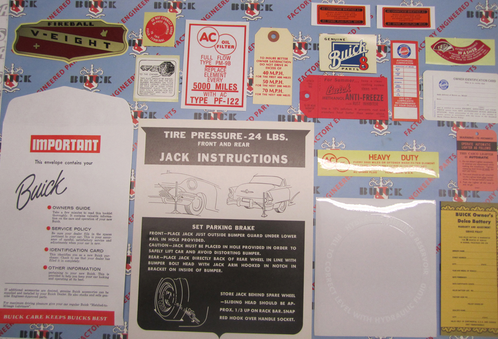 1955 Decal Set Buick - 4BBL Models