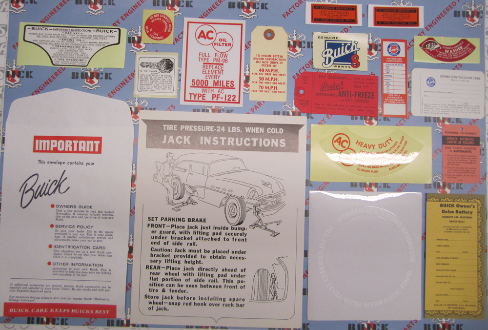 1956 Decal Set Buick - 2BBL Models