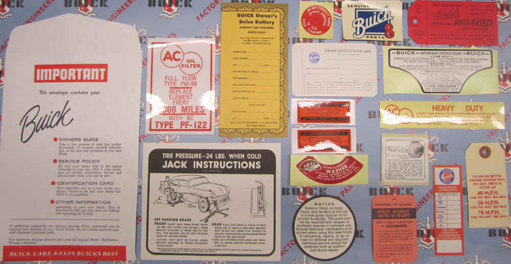 1957 Decal Set Buick - 4BBL Models