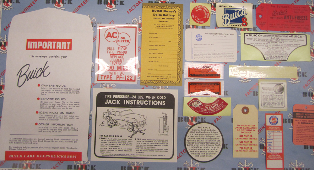 1957 Decal Set Buick - 2BBL Models