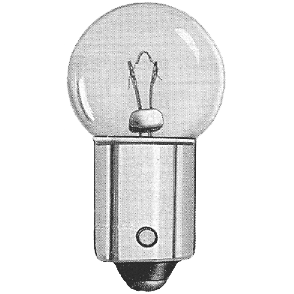 License Plate Light Bulb 1953-60