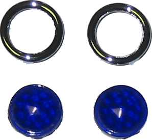 Blue Dots - Glass Lenses