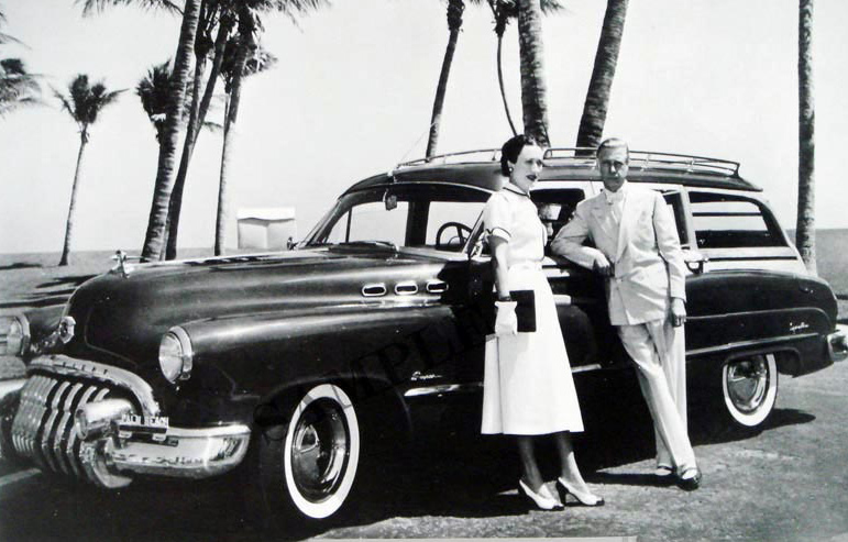 1950 Buick Super With Duchess of Winsdor