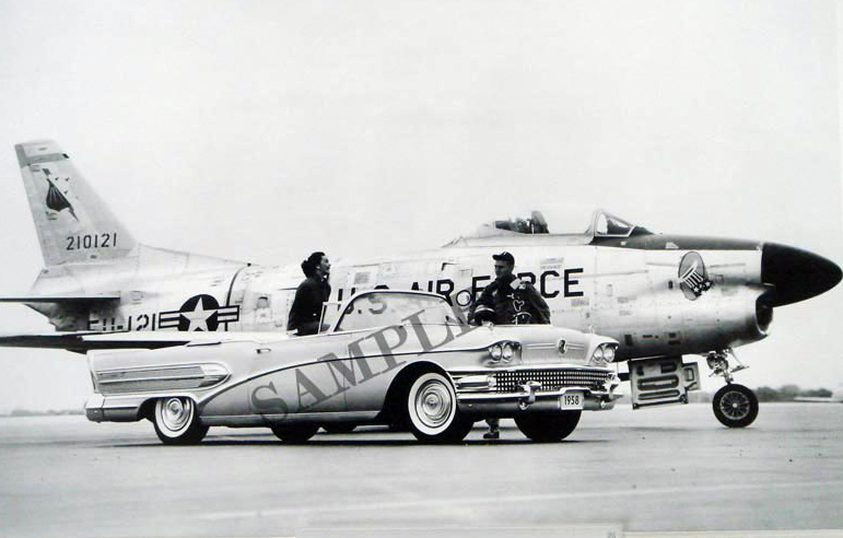 1958 Buick With Air Force Jet Fighter