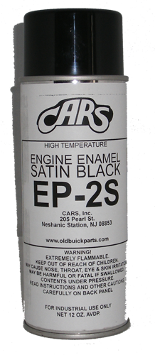 Black Chassis Paint - Satin Finish Spray