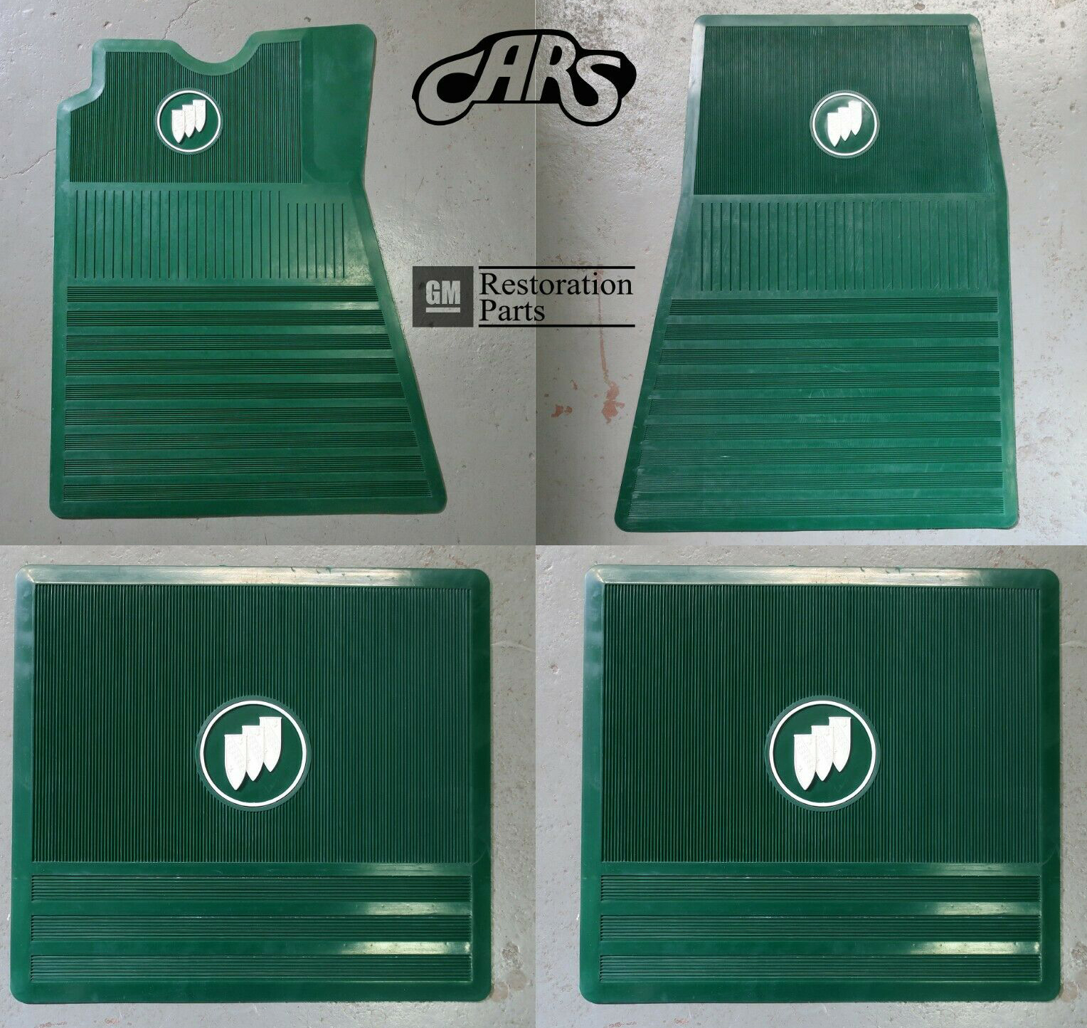 Floor Mat Set Buick Tri-Shield - Green