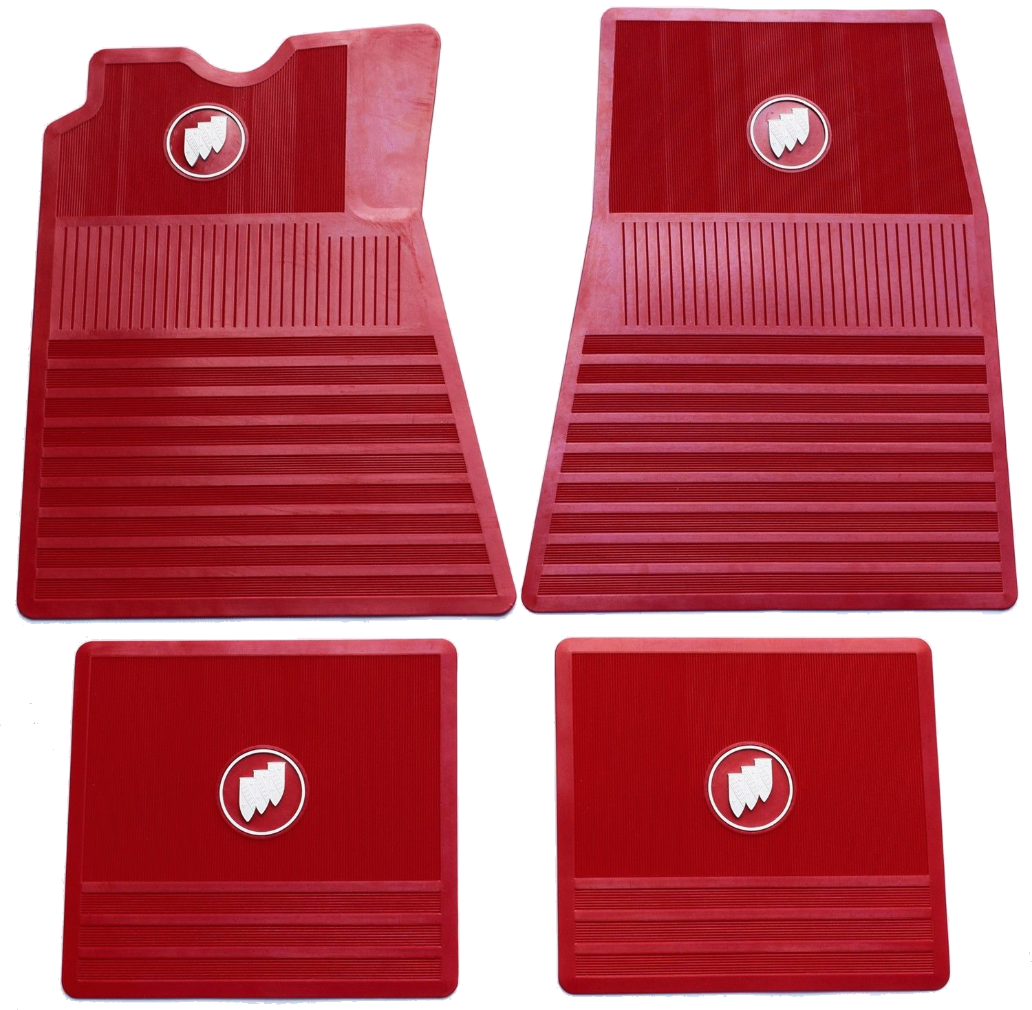 Floor Mat Set Buick Tri-Shield - Red