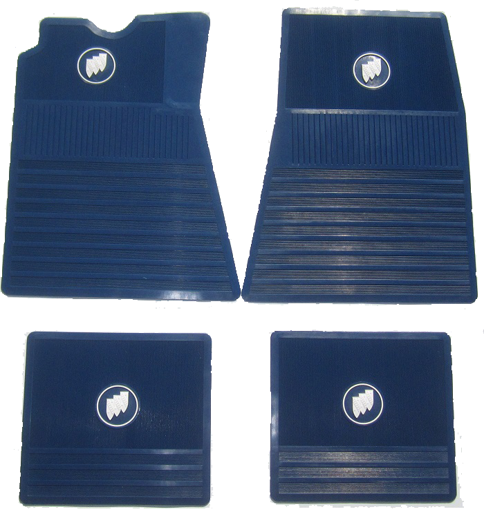 Floor Mat Set Buick Tri-Shield - Blue