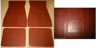 Floor Mats 1973-1988 GM - Maroon