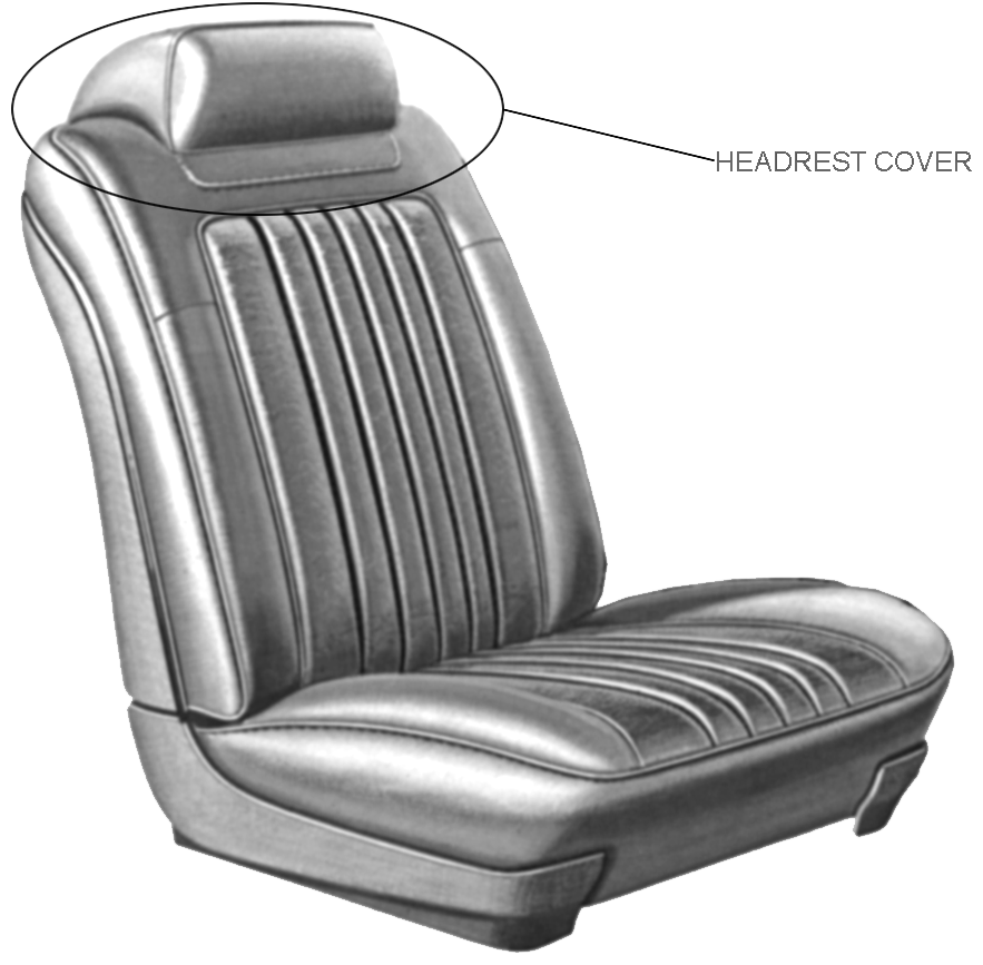 Headrest Cover 1968-72 Buick