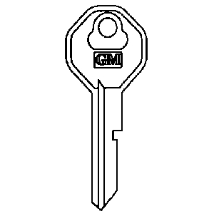 Key Blank 1961-66 - Ignition and Door