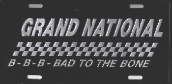 License Plate - Grand National B-T-T-B