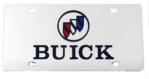 License Plate - Buick Logo - Stainless B