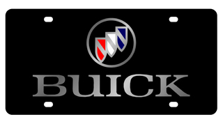 License Plate - Buick Silver