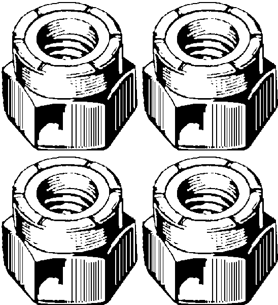 Shock Link Locknut Kit 1954-55 Buick