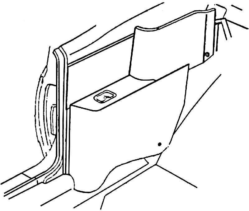 Arm Rest Cover 1968-72 Rear Convertible