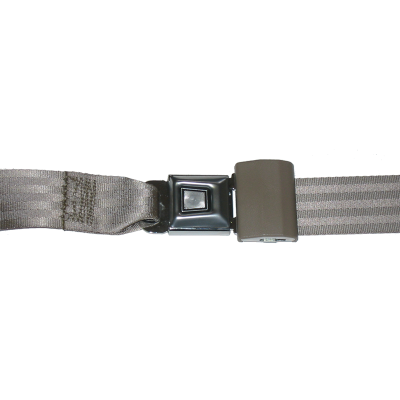"Seat Belt Set 60"" Push Button Buckle Mtl"