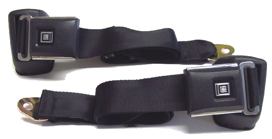 Seat Belt Set 1961-75 GM Style Black