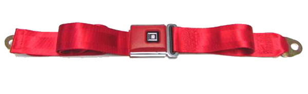 Seat Belt 1961-75 GM Style Red Logo