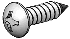 Headlamp Retainer Screw Black (16)