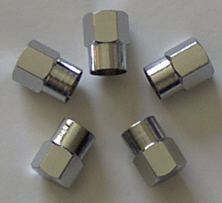 Valve Stem Cap Chrome Octagonal