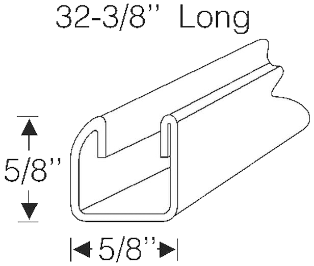 "Window Channel 1961-64 Buick 32 3/8"" (1)"