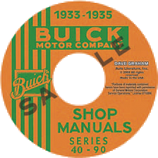 Shop Manual 1933-35 Buick On CDROM