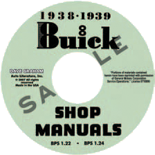 Shop Manual 1938-39 Buick On CDROM
