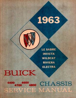 Shop Manual 1963 Buick Big Series